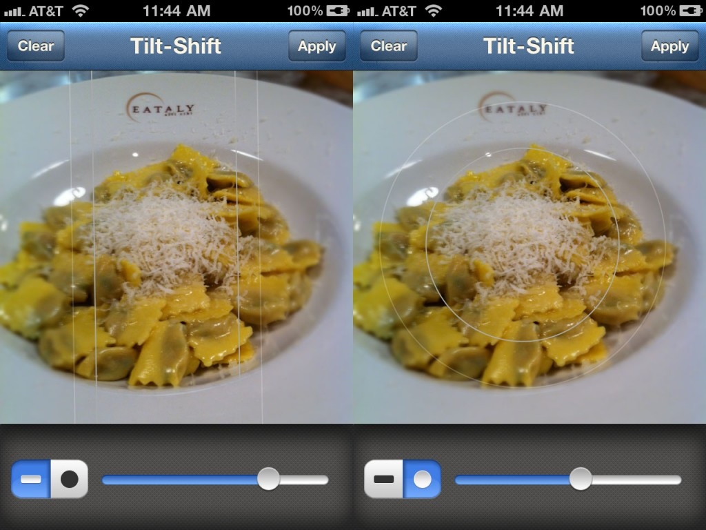 Instagram Tilt Shift Feature Example